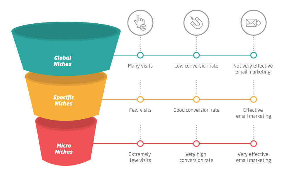 the main differences between niches and micro niches